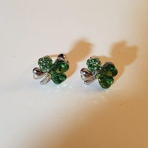 St Patrick's Clover Earrings